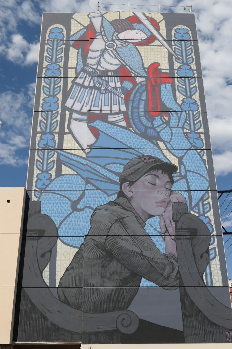 Mural Downtown LV - Artist Etam Crum