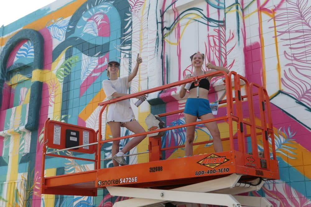 Las Vegas Mural work in progress