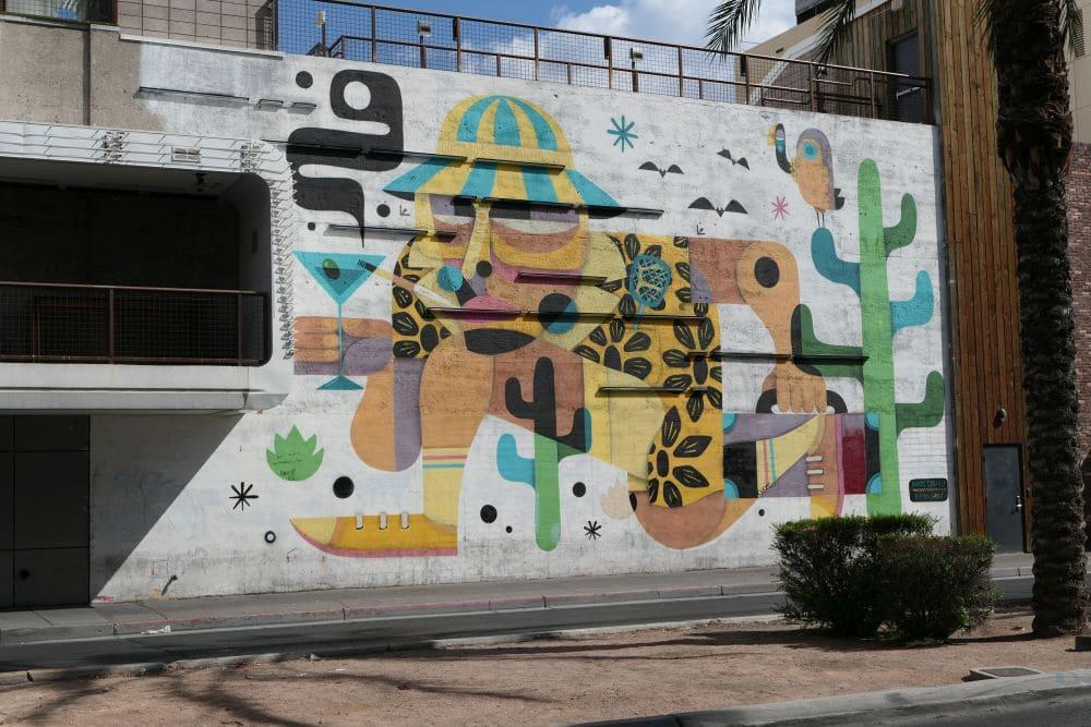 Fear and Loathing in Las Vegas Mural - Artist: Ruben Sanchez