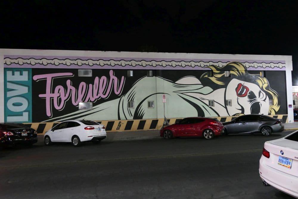 Mural Las Vegas - Love forever, artist d*face
