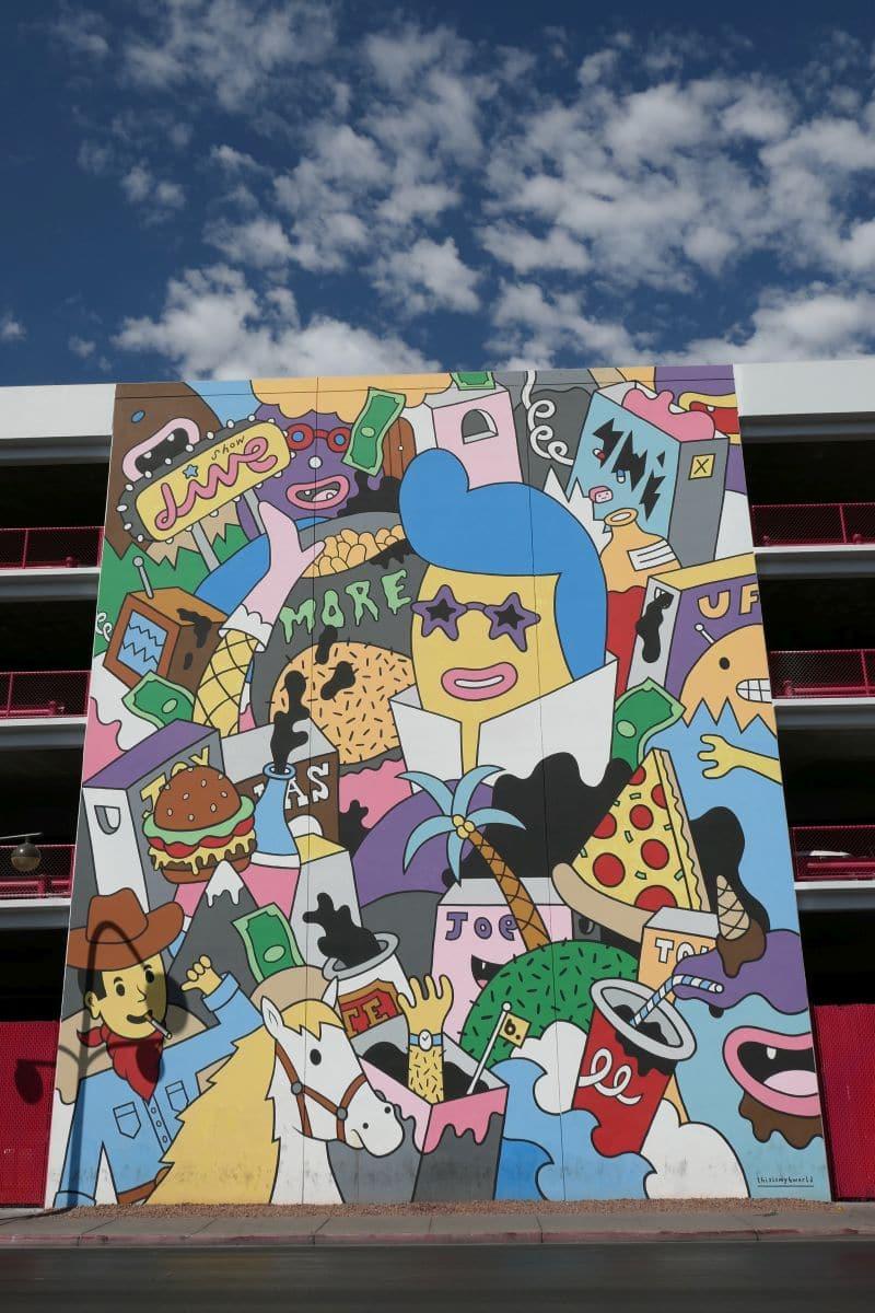 Thisismybworld Las Vegas Mural - Artist: Justkids