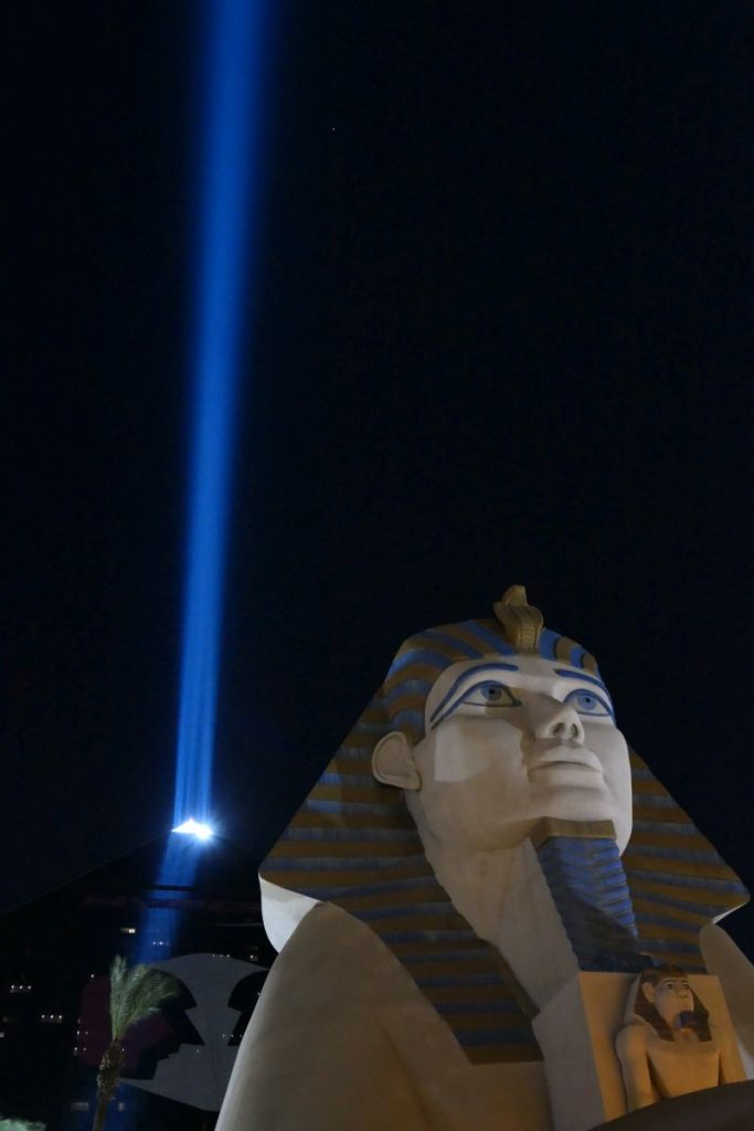 Luxor hotel in Las Vegas with piramide and sfinx