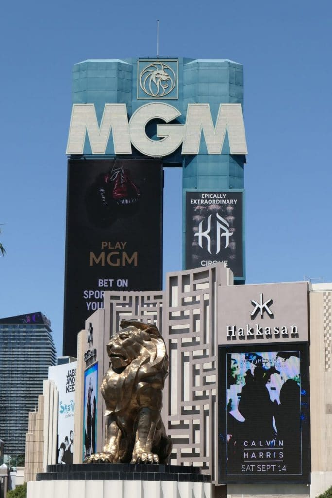 Sign MGM Grand hotel and casino in las vegas, daylight