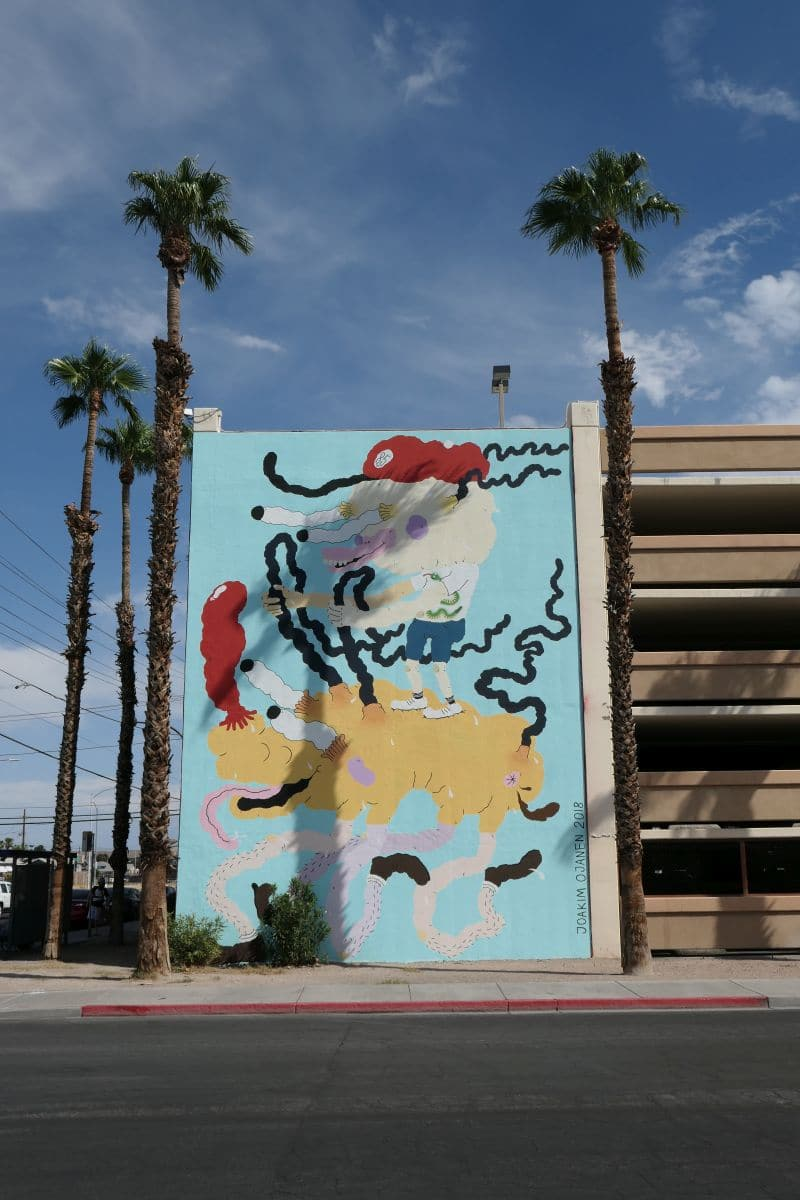Mural Downtown Las Vegas - artist Joakim Ojanen