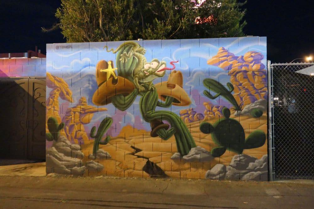 Mural downtown Las Vegas desert