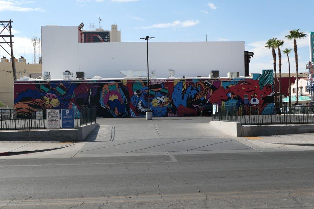 Mural parking Downtown Las Vegas