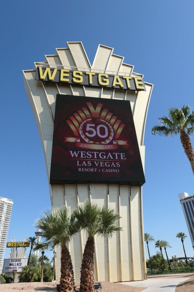 Sign Westgate hotel and Casino in Las Vegas