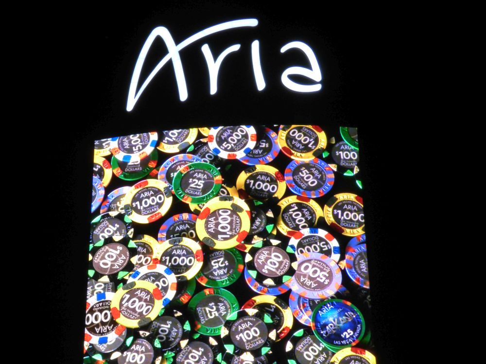 Closup Aria Sign in Las Vegas