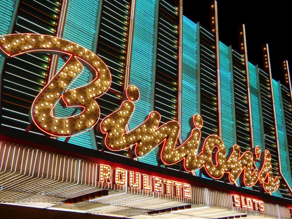 Neon Sign Binions in Downtown Las Vegas