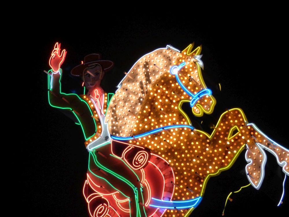 Neon Hacienda Horse Downtown Las Vegas