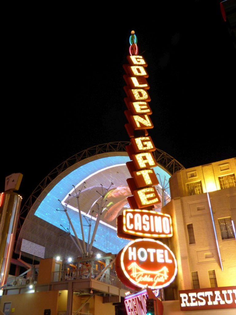 Neon Sign Golden Gate Hotel in Downtown Las Vegas
