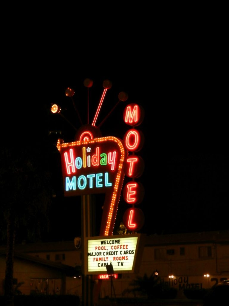 Neon Sign Holiday Motel Las Vegas Boulevard