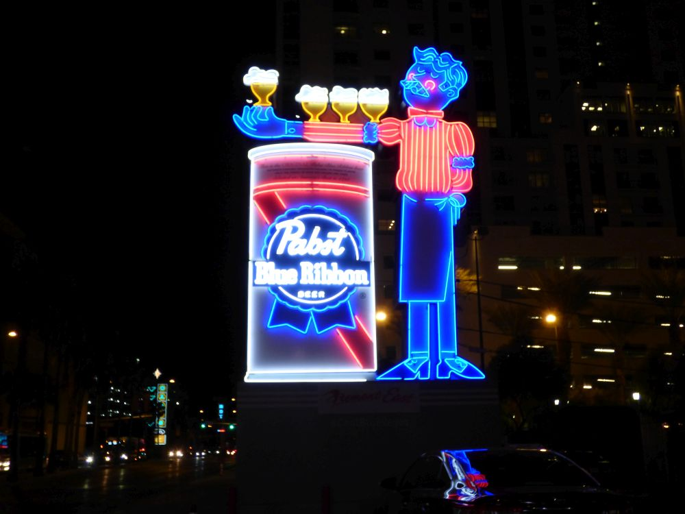 Pabst Blue Ribbon beer Downtown Las Vegas