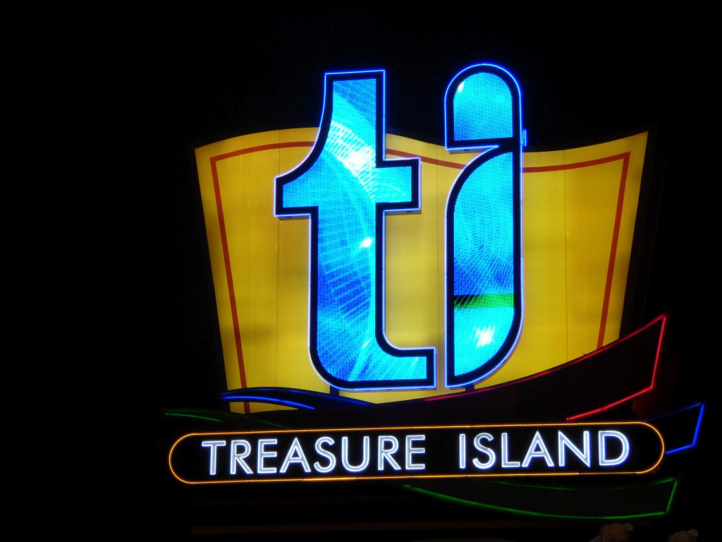 Neon Sign TI, Treasure Island