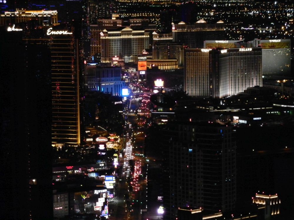 View The Las Vegas Strip by night from Stratosphere Tower