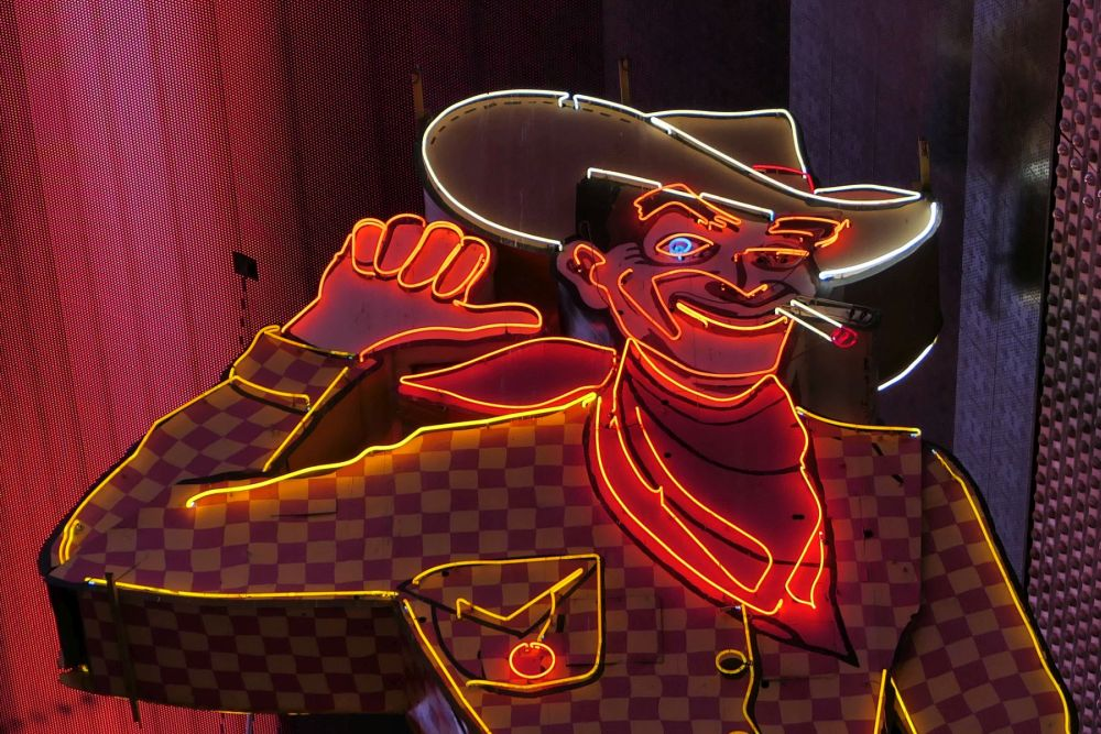 Vegas Vic, Neon Cowboy in Downtown Las Vegas